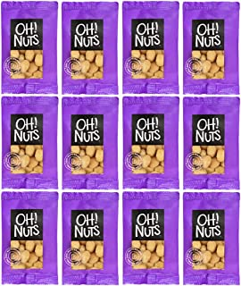 Oh! Nuts Macadamia Nuts 1.5oz Serving Size Grab and Go Nuts Snack pack   Roasted Salted Macadamias Individual Portions Snack Pack