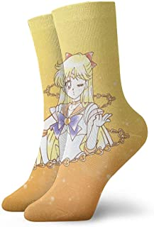 eneric, Sailor Moon Calcetines Crew Funny Casual Unisex Adulto Niños Anime Impresión Tobillo Niño Acogedor Calcetín Cool 90's