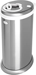 Ubbi Money Saving, Nappy Disposal Bin, Steel Odor Locking Nappy Pail, silver