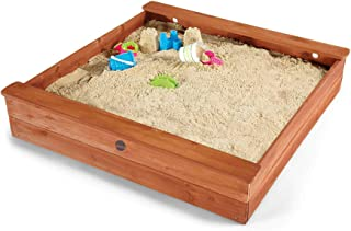 large wooden sandpit