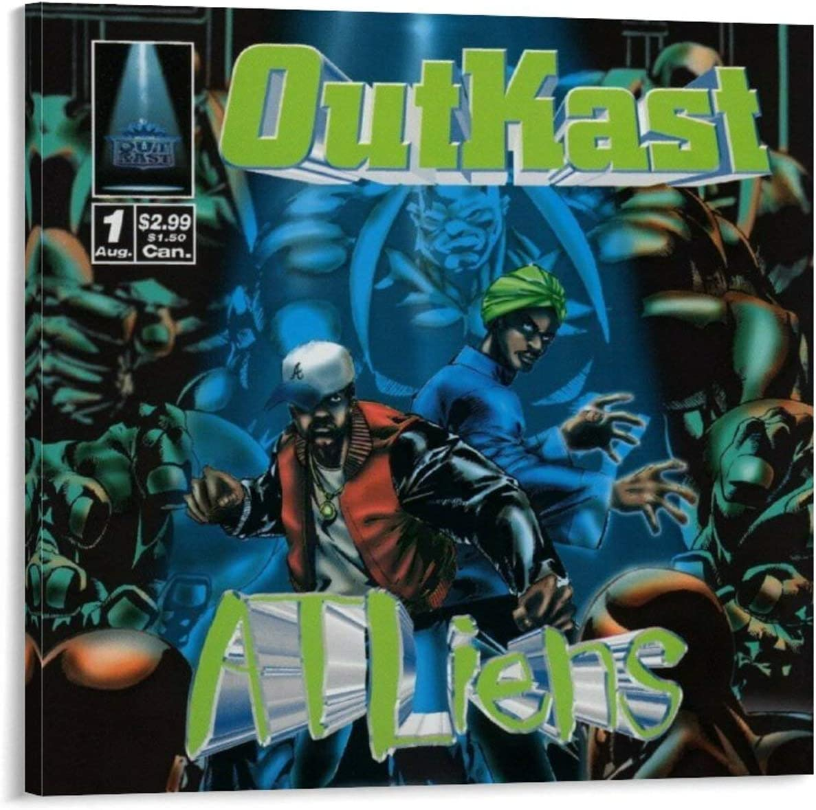 great Outkast Max 40% OFF Atliens Canvas Large-scale sale Art Wall Picture Poster Pri and