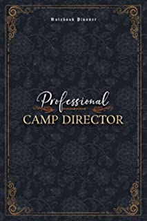 Camp Director Notebook Planner - Luxury Professional Camp Director Job Title Working Cover: Mom, Small Business, 5.24 x 2...