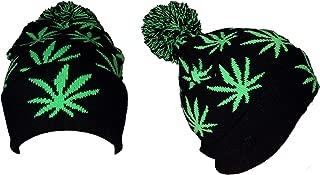 Marijuana Weed Cotton Beanies Winter Hats With Pom Pom (Wca134 Z)