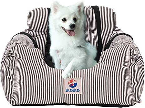 BLOBLO Dog Car Seat Pet Booster Seat Pet Travel Safety Car Seat Dog Bed for Car with Storage Pocket: image