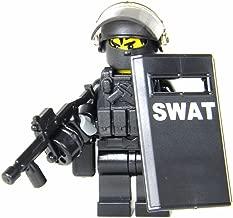 Battle Brick SWAT Police Officer Heavy Riot Control (SKU51) Custom Minifigure