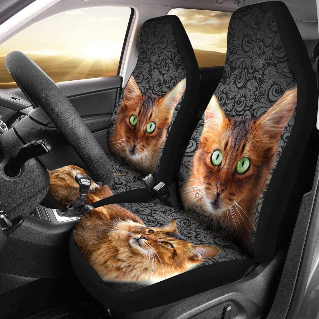 lowest price Pawlice Direct store Lovely Somali Cat Print Covers Seat Car
