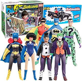 Figures Toy Company Batman Retro Action Figures Series: Special Deal 02 with Batcave, Batmobile & 7 Loose Figures
