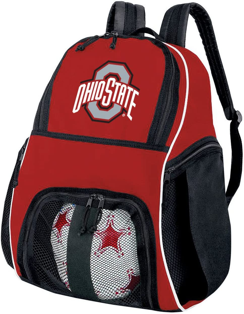 Ohio State University Soccer Ball Brand Bombing new work Cheap Sale Venue or Volle OSU Backpack Buckeyes