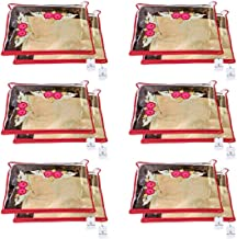 Kuber Industries™ Non Wooven Single Saree Cover 12 Pcs Set (Red)