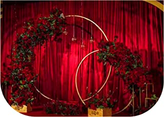 Iron Circle Wedding Birthday Arch Decoration Background Wrought Props Single Arch Flower Outdoor Lawn Mesh Screen Road Guide,Diameter 1.2M,White