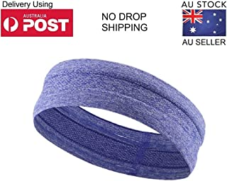 Sports headband Yoga Running Silicone Sweatband for women men unisex adult boys girls (Pack of 1) Suitable head wrap Tennis Basketball Cycling Hiking Races Cross fit - Aussie stock Aussie Seller