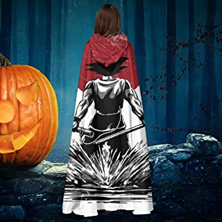 Dragon Ball Z Pure of Heart Warrior Unisex Christmas Halloween Witch Knight Hooded Robe Vampires Cape Cloak Cosplay Costume Black