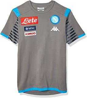 Ssc Napoli Italian Serie A Men's Representation T-Shirt, Grey, M