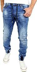 Reslad Jeans Jogginghose Sweathose in Jeansoptik Jeans-Herren Slim Fit Herren-Hose RS-2073