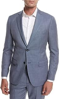 Rodolf N HL Wool Cross-Stitch Suiting Blazer Jacket, Blue 44