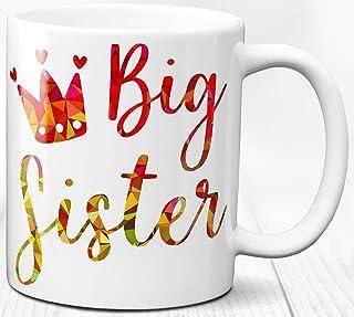 Taza de café Hermana mayor Regalo Cumpleaños 330 ml Taza de cerámica Amor de hermanos