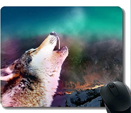 Gaming Mouse Pad Custom,Animal Wolf Tooth Gaming Mousepad Mat