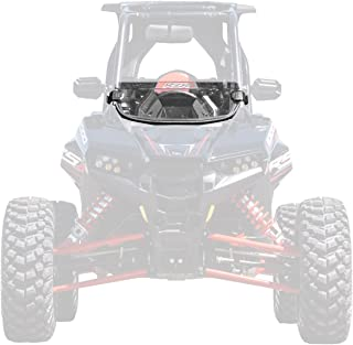 SuperATV Heavy Duty Standard Clear Half Windshield for Polaris RZR RS1 (2018+) - Installs in 5 Minutes!