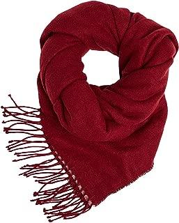Strick Schal Winter Damen Bommel warm günstig unifarben einfarbig warm uni