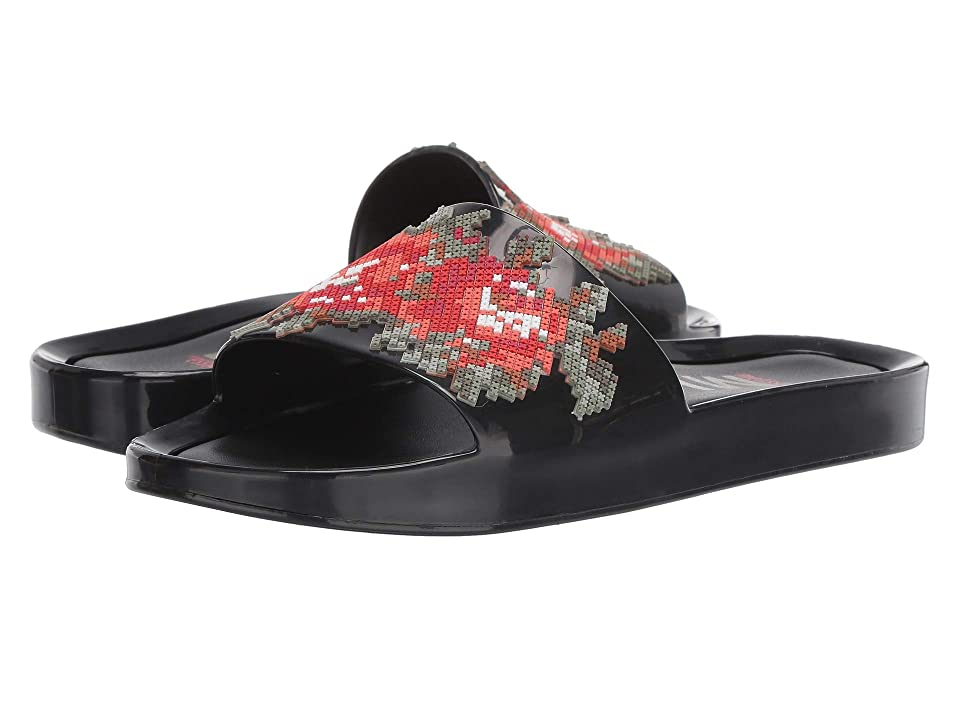 Melissa Shoes Beach Slide Flower (Black Onyx) Women