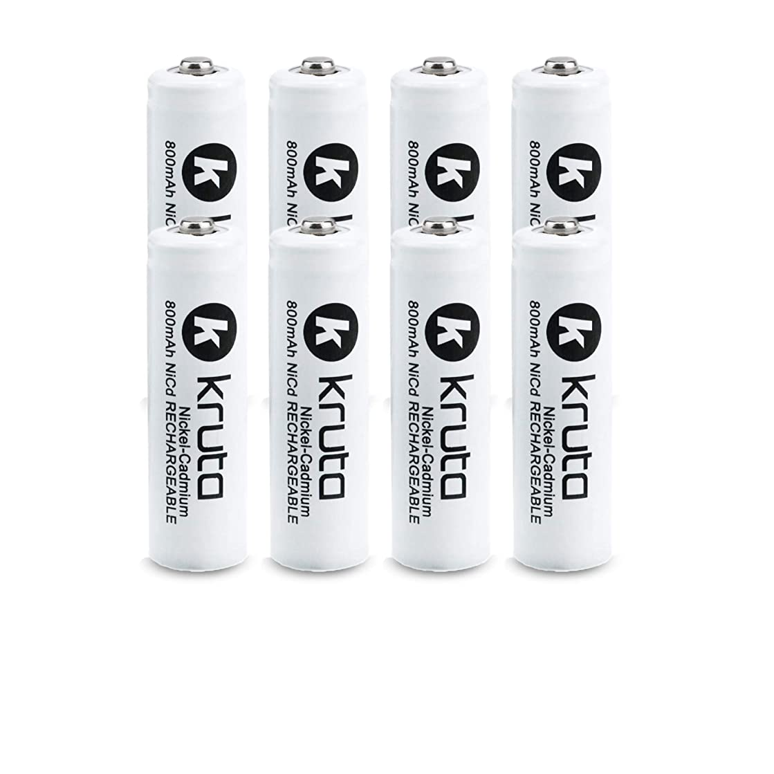 Kruta Rechargeable AA Batteries(8 Counts), 1.2V 800mAh NiCd AA Solar Rechargeable Batteries Pack for Solar Lights Solar Lamp, Garden Lights, Yard Light, Remotes