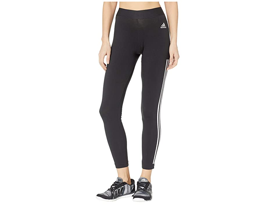 9df5f424cb6f adidas Must Have 3-Stripe Tights (Black White) Women s Workout