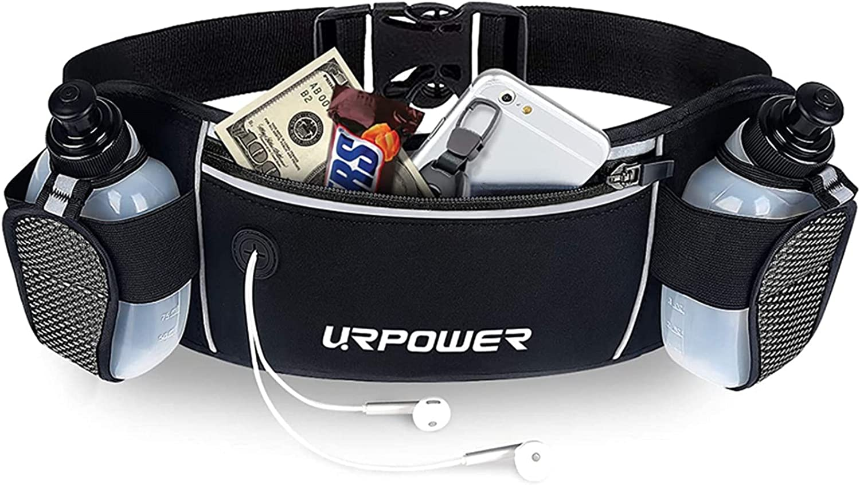 URPOWER Running Max 53% OFF Belt Multifunctional Resist Low price Pockets Water Zipper