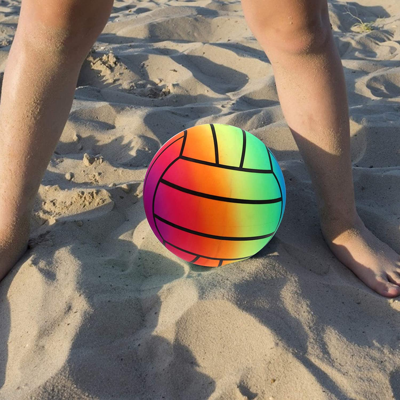 Bunt BESPORTBLE Regenbogen Volleyball Kinder Aufblasbare PVC Kickball Sport Spielball mit 1 Pumpe f/ür Sportliche Aktivit/äten Strand Garten Indoor Outdoor 1 Set// 4 St/ück