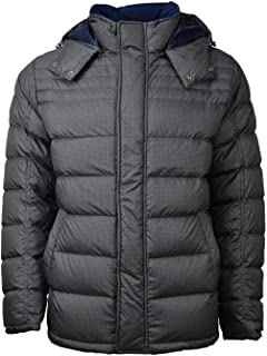 Brooks Brothers Men's Down Insulated Hooded Puffer Parka Jacket Green Houndstooth Large