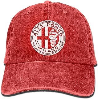 dfegyfr Alfa Romeo Circle Euro Youth Baseball Cap Vintage Denim Snapback Hat Unisex23