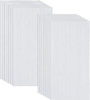 comprar comparacion Ouhigher - 14 placas huecas de doble puente de policarbonato transparente, 4 mm de grosor, 60,5 x 121 cm, piezas de repues...