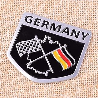 Aluminum German Car Racing Flag Emblem Grille Badge Sticker Fit For Porsche BMW VW Benz Car Accessories