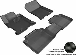 3D MAXpider L1HD04801509 Custom Fit All-Weather Kagu Series Floor Mats Black Complete Set for Honda Accord Sedan Models