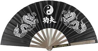 JiangYY Stainless Steel Black Tai chi Kung fu Fan Martial Arts Equipment Wushu Weapons FFP401H16C997