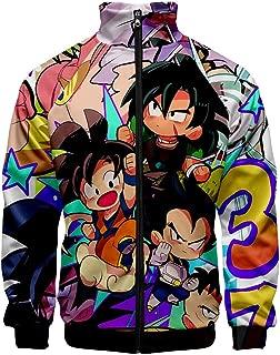 FunStation Anime 3D Printed Dragon Ball Super Cosplay Costume Unisex Jacket Sweatshirt Hoodie with Zipper