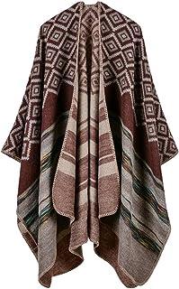 FOURSTEEDS Womens Bohemia Tassels Knitted Cashmere Ponchos Long Pashmina Cardigans Shawls