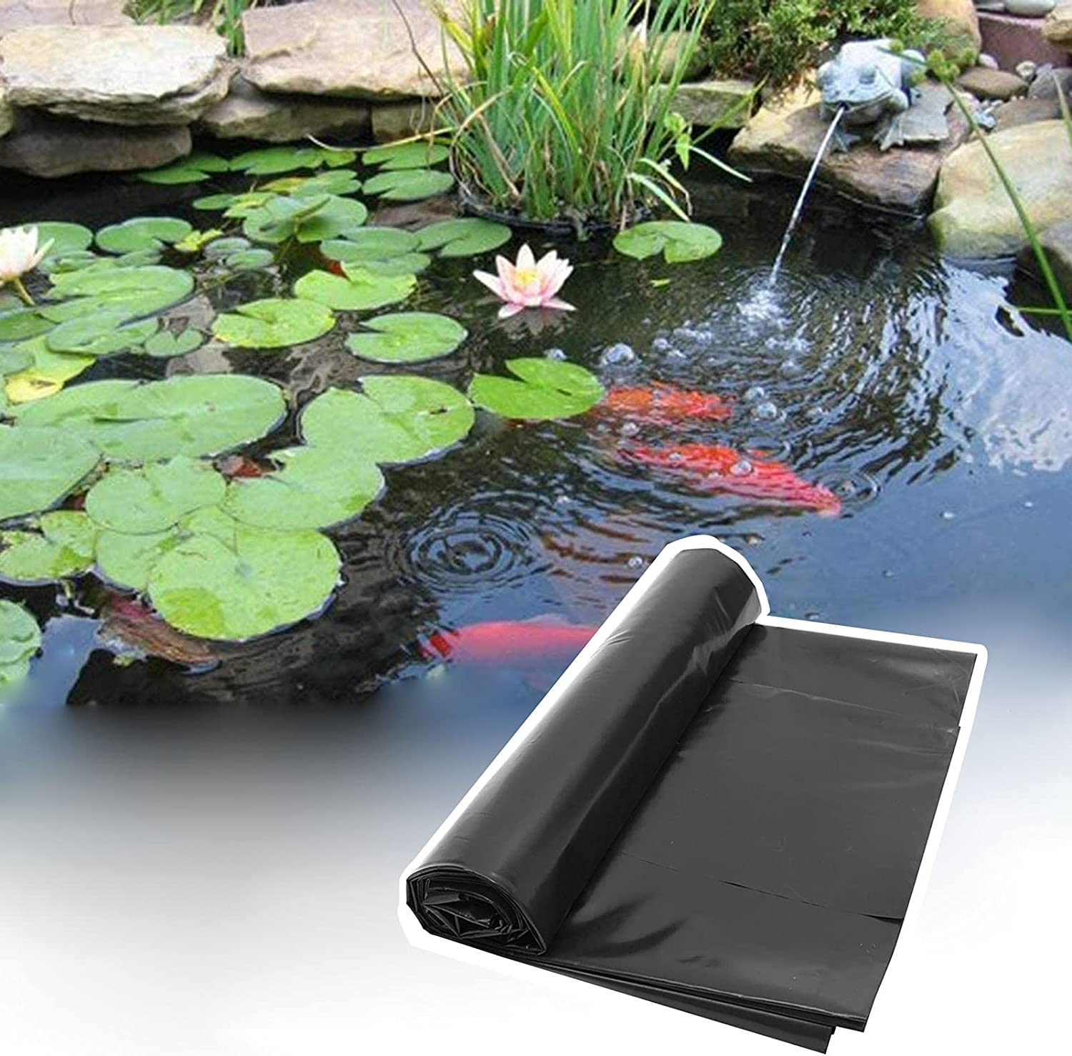 price Small Pond Liner 4x4Ft Preformed Durable Koi P Ranking TOP4 Rubber