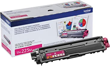 Brother Genuine High Yield Toner Cartridge, TN225M, Replacement Magenta Toner, Page Yield Up To 2,200 Pages, Amazon Dash R...