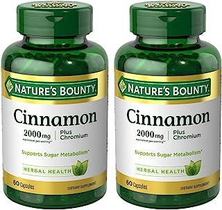 Cinnamon 2000mg, Plus Chromium, 2 Bottles (60 Count)