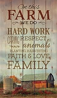 P. Graham Dunn On This Farm We Do… Farm Barn Scene 24 x 14 Wood Pallet Wall Art Sign Plaque