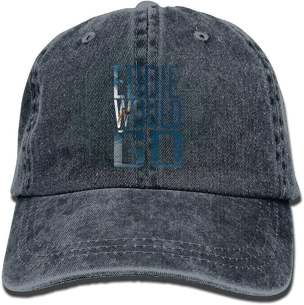 XZFQW Eddie Aikau Would GO Trend Printing Cowboy Hat Fashion Baseball Cap for Men and Women Black