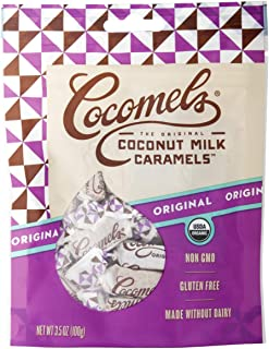 Cocomels Coconut Milk Caramels, Original Flavor, Organic, Dairy Free, Vegan, Gluten Free, Non-GMO, No High Fructose Corn Syrup, Kosher, Plant Based, Individually Wrapped Candy, (1 Pack)