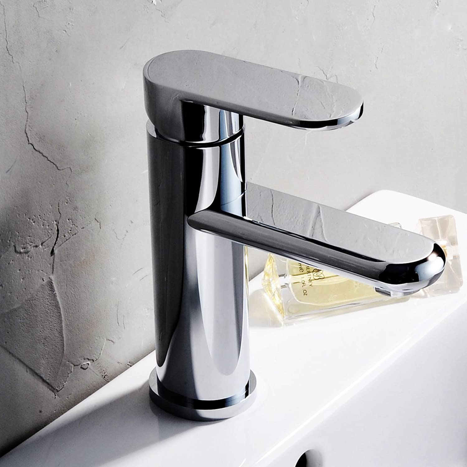 Square Basin Faucet Hot and Cold Copper Sitting Washbasin Table Basin Single Single Hole Faucet,Ah024- Oval