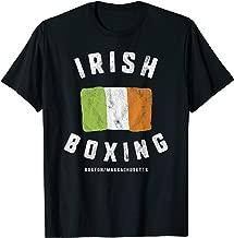 Irish Boxing Club T-Shirt Boston Massachusetts Flag