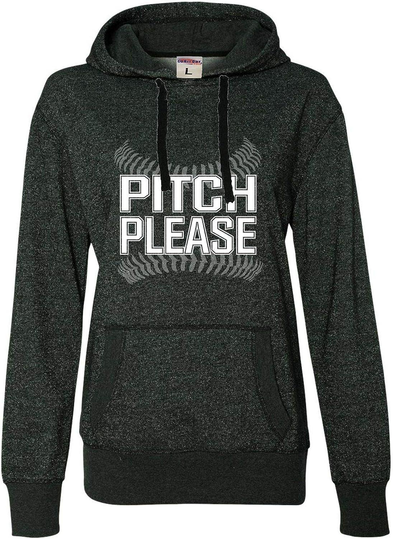 Go All Out Womens 2020秋冬新作 Pitch 爆安 Please Glitter H Baseball Softball Funny