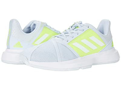 adidas CourtJam Bounce (Halo Blue/White/Solar Yellow) Women