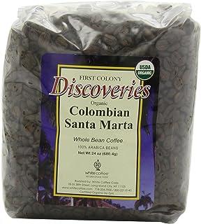 First Colony Organic Whole Bean Coffee, Colombian Santa Marta, 710ml