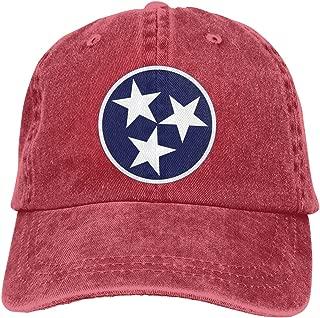 PMGM-C Flag of Tennessee Adult Trendy Denim Outdoor Sports Hat Adjustable Baseball Cap