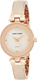Anne Klein Womens Quartz Dress Watch, Analog and Metal- AK-1980BMRG