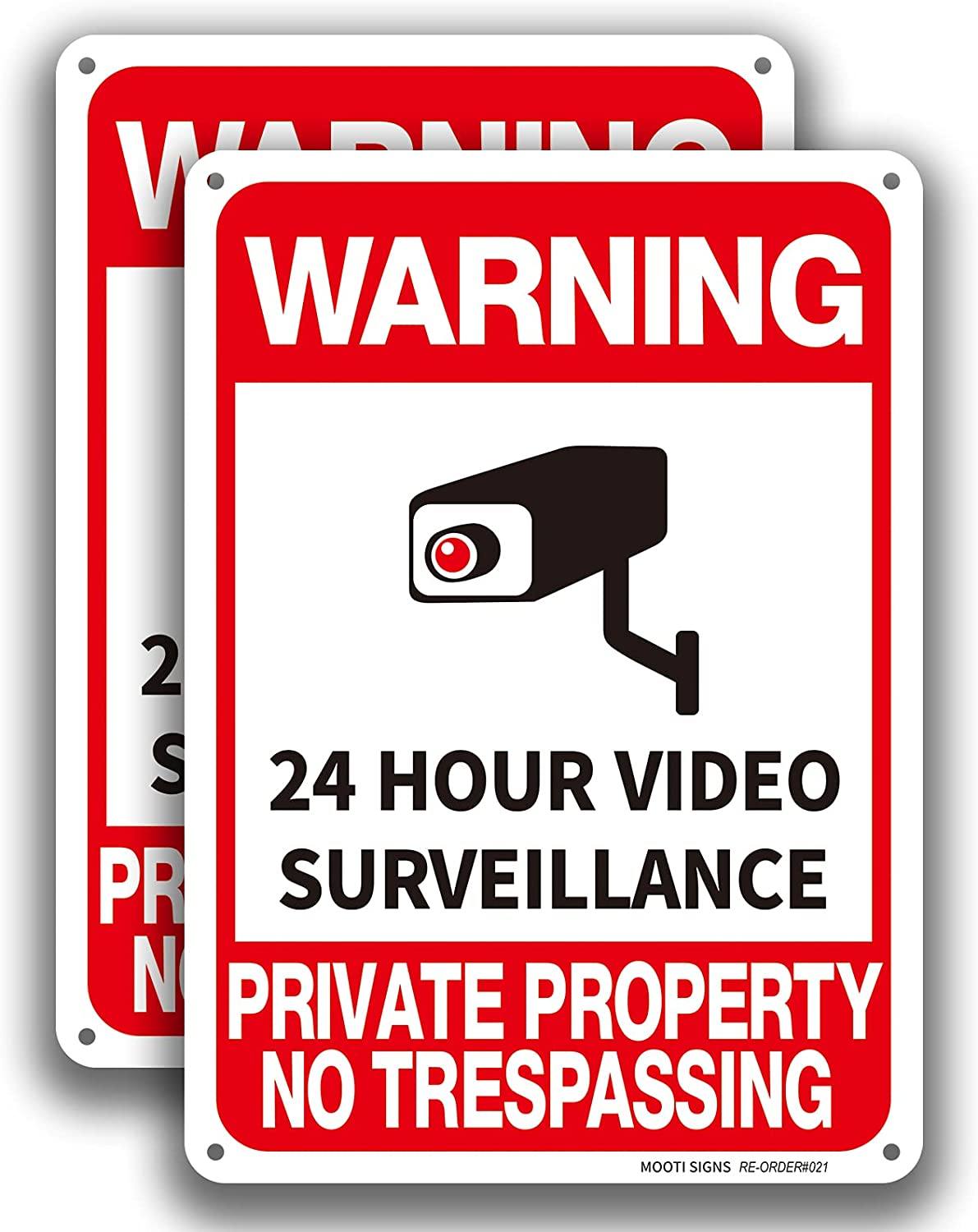 Video Surveillance 2 Pack Private Signs Trespassing No Property Max 59% OFF Max 60% OFF